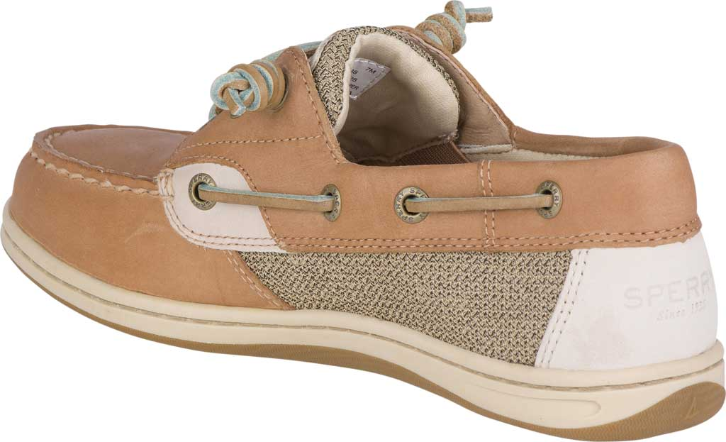 Women's Sperry Top-Sider Songfish Core Boat Shoe, Linen/Oat Leather/Textile, large, image 4