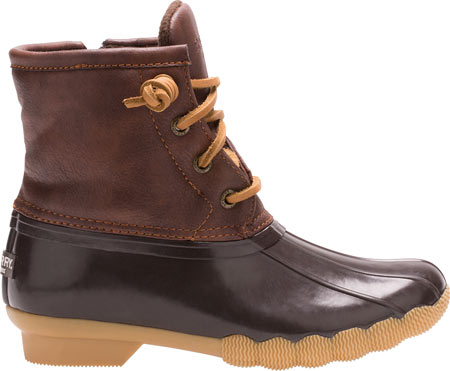Girls' Sperry Top-Sider Saltwater Duck Boot, Brown Rubber/Synthetic, large, image 2