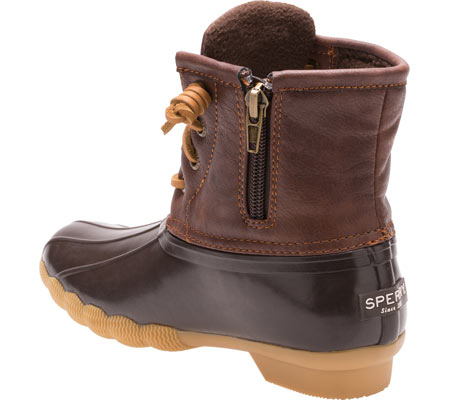 Girls' Sperry Top-Sider Saltwater Duck Boot, Brown Rubber/Synthetic, large, image 3