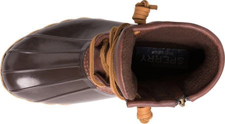Girls' Sperry Top-Sider Saltwater Duck Boot, Brown Rubber/Synthetic, large, image 4