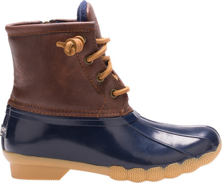 Girls' Sperry Top-Sider Saltwater Duck Boot, Navy Rubber/Synthetic, large, image 2