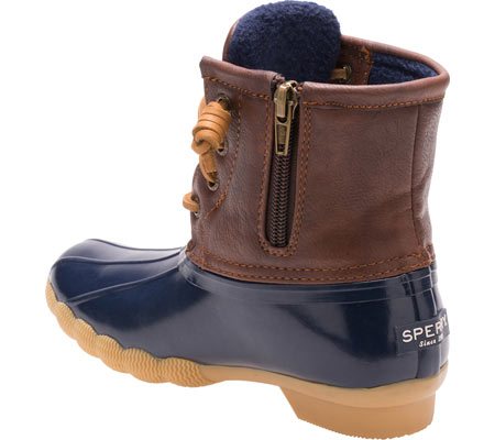 Girls' Sperry Top-Sider Saltwater Duck Boot, Navy Rubber/Synthetic, large, image 3