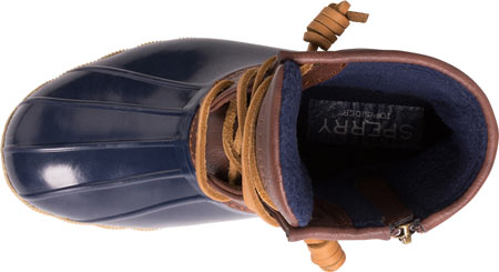 Girls' Sperry Top-Sider Saltwater Duck Boot, Navy Rubber/Synthetic, large, image 4
