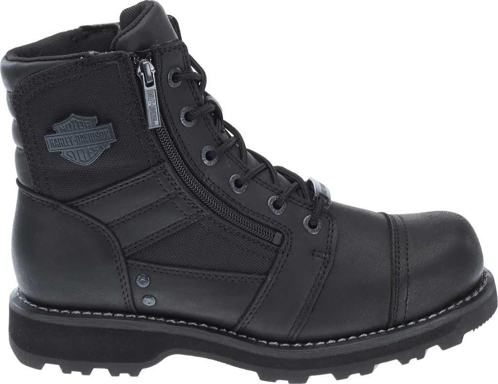 Men's Harley-Davidson Bonham Boot, Black Full Grain Leather, large, image 2