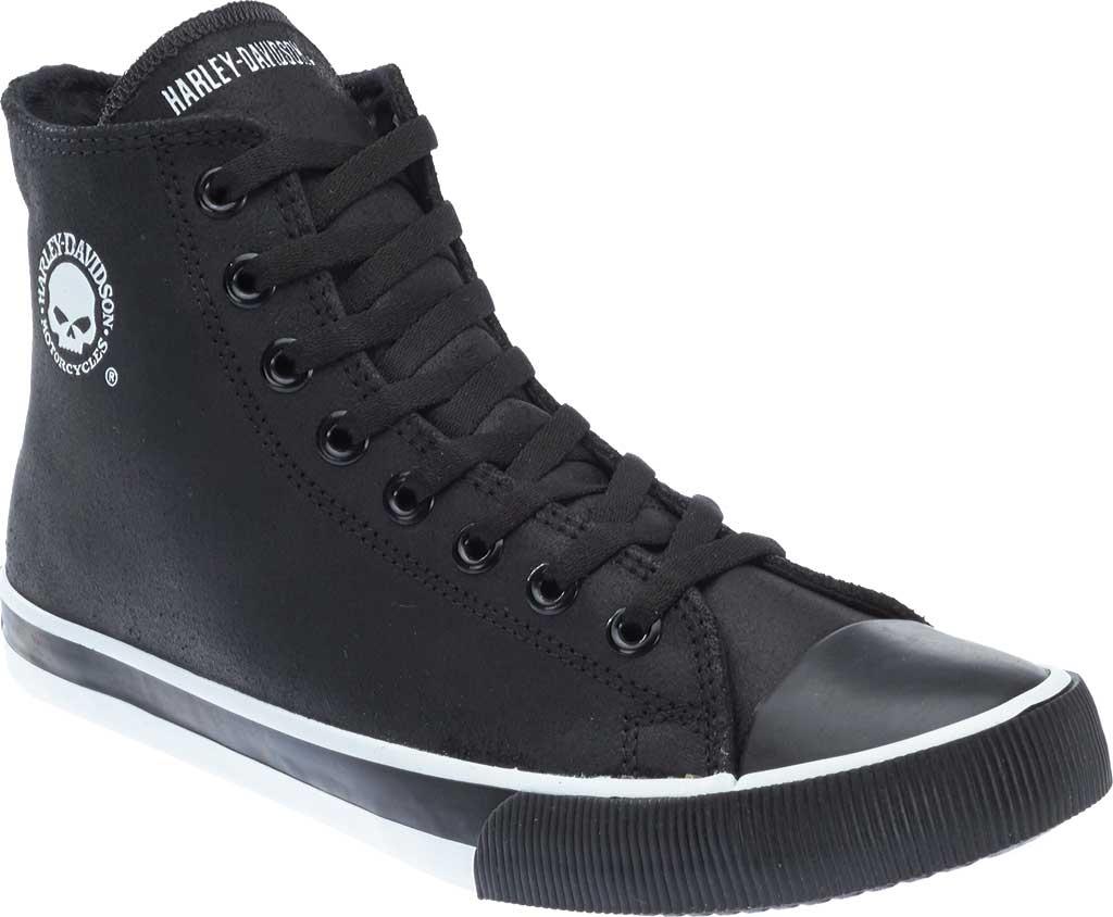 Men's Harley-Davidson Baxter High Top, Black/White Leather, large, image 1