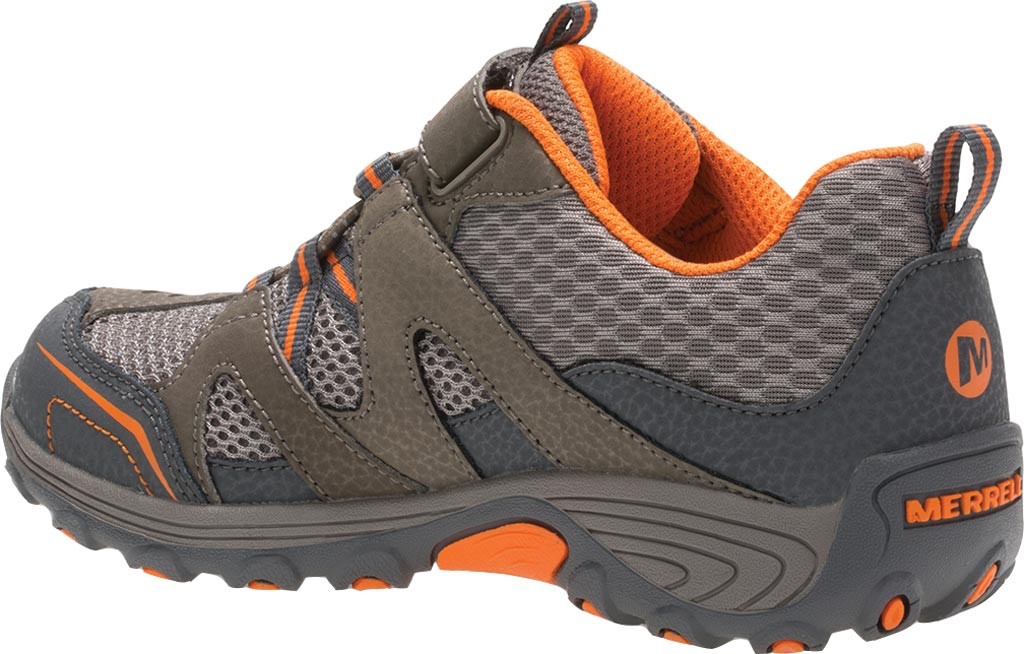 Boys' Merrell Trail Chaser Hiking Shoe Preschool, Gunsmoke/Orange Suede/Mesh, large, image 3