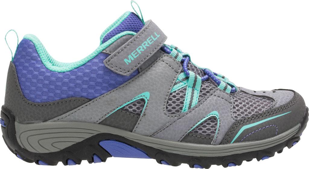 Girls' Merrell Trail Chaser Hiking Shoe Preschool, Grey/Multi Suede/Mesh, large, image 2