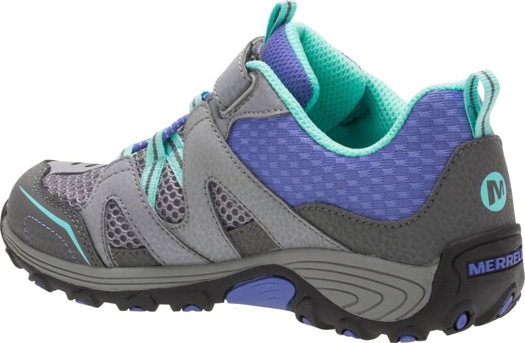 Girls' Merrell Trail Chaser Hiking Shoe Preschool, Grey/Multi Suede/Mesh, large, image 3