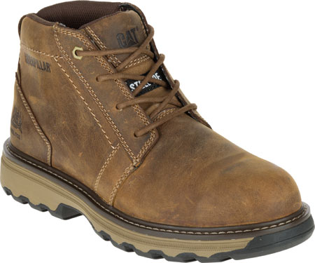 Men's Caterpillar Parker Steel Toe Chukka Boot, Dark Beige Full Grain Leather, large, image 1