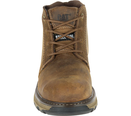 Men's Caterpillar Parker Steel Toe Chukka Boot, Dark Beige Full Grain Leather, large, image 4