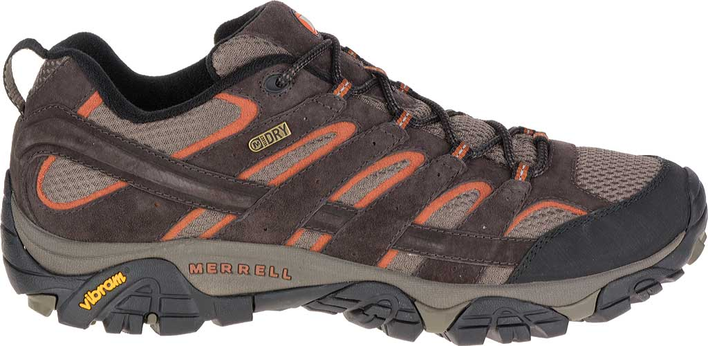 Men's Merrell Moab 2 Waterproof Hiking Shoe, Espresso, large, image 2