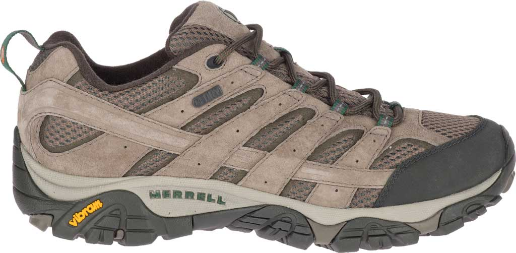Men's Merrell Moab 2 Waterproof Hiking Shoe, Boulder Pigskin Leather/Mesh, large, image 2