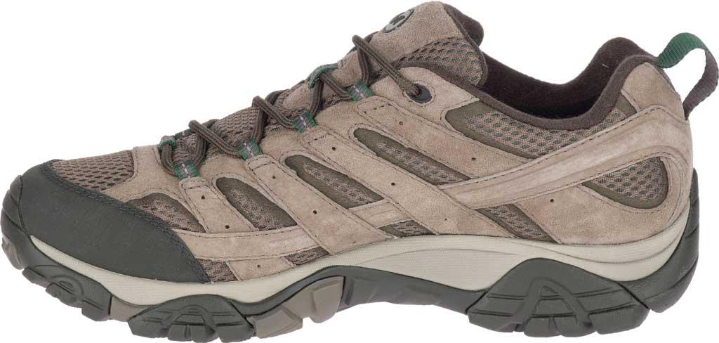 Men's Merrell Moab 2 Waterproof Hiking Shoe, Boulder Pigskin Leather/Mesh, large, image 3