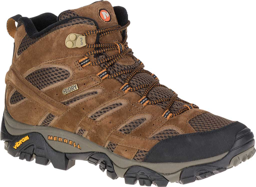 Men's Merrell Moab 2 Mid Waterproof Hiking Boot, Earth, large, image 1