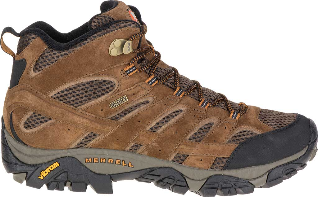 Men's Merrell Moab 2 Mid Waterproof Hiking Boot, Earth, large, image 2