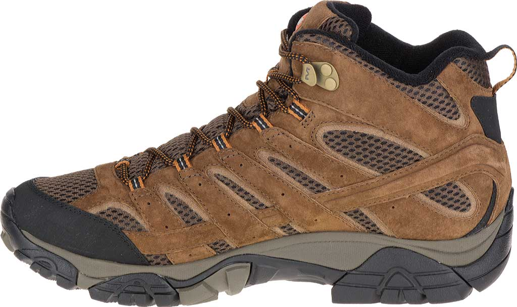 Men's Merrell Moab 2 Mid Waterproof Hiking Boot, Earth, large, image 3
