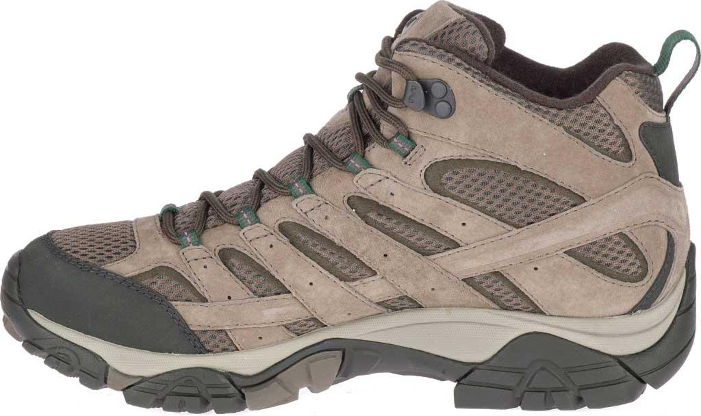 Men's Merrell Moab 2 Mid Waterproof Hiking Boot, Boulder Pigskin Leather/Mesh, large, image 3