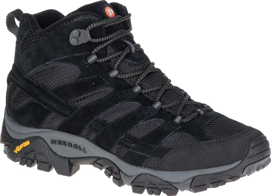 Men's Merrell Moab 2 Vent Mid Hiking Shoe, Black Night, large, image 1
