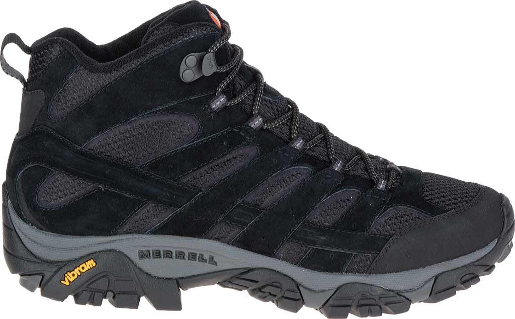 Men's Merrell Moab 2 Vent Mid Hiking Shoe, Black Night, large, image 2