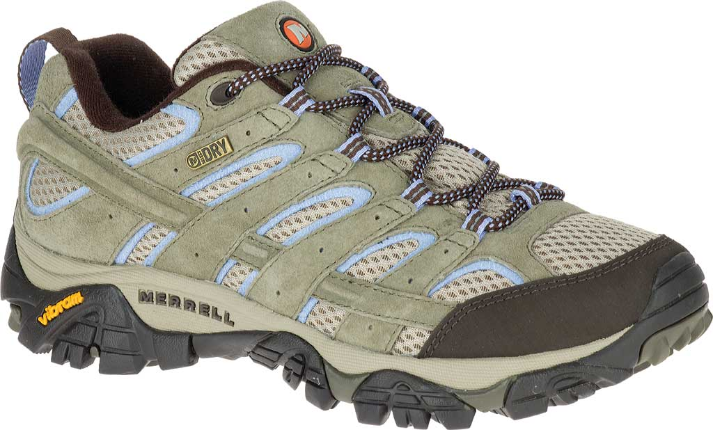 Women's Merrell Moab 2 Waterproof Hiking Shoe, Dusty Olive, large, image 1