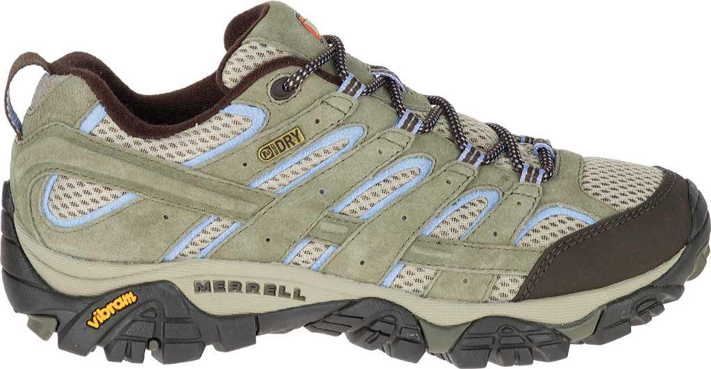 Women's Merrell Moab 2 Waterproof Hiking Shoe, Dusty Olive, large, image 2