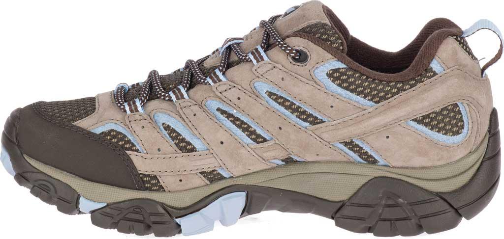 Women's Merrell Moab 2 Waterproof Hiking Shoe, Brindle Pigskin Leather/Mesh, large, image 3