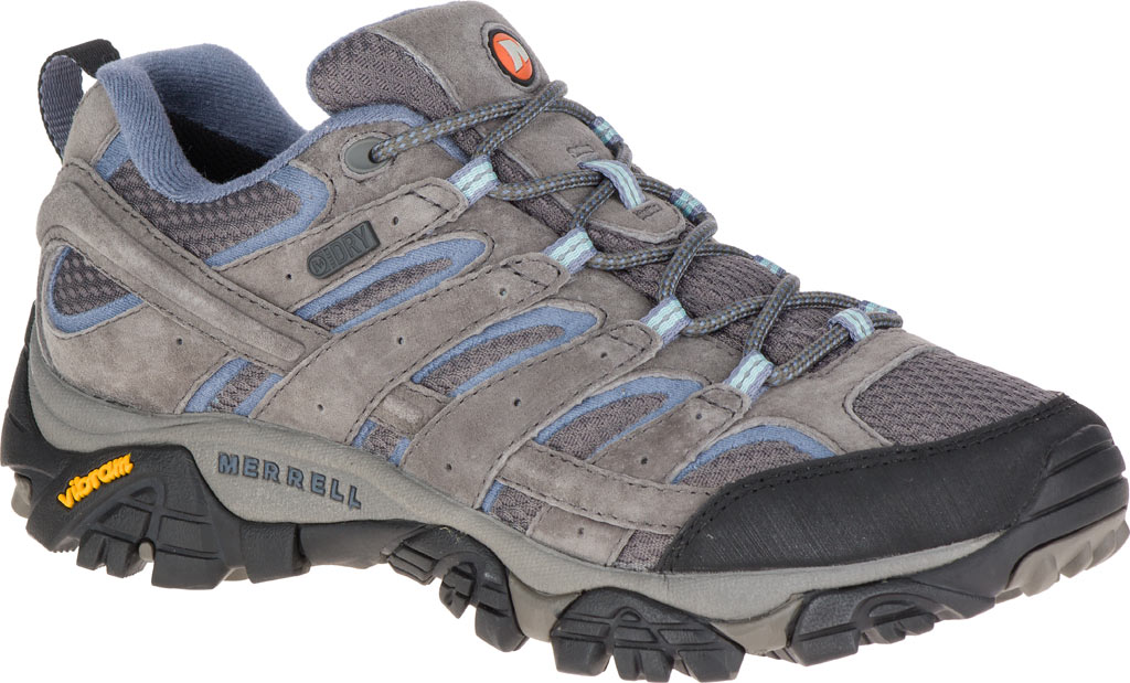 Women's Merrell Moab 2 Waterproof Hiking Shoe, Granite, large, image 1