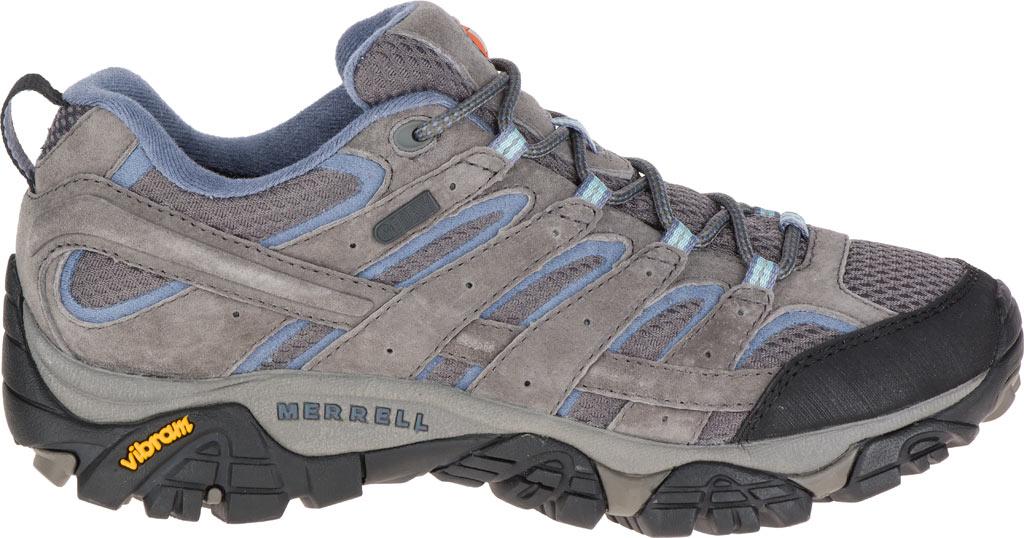 Women's Merrell Moab 2 Waterproof Hiking Shoe, Granite, large, image 2