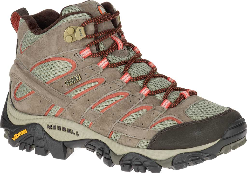 Women's Merrell Moab 2 Mid Waterproof Hiking Boot, Bungee Cord, large, image 1
