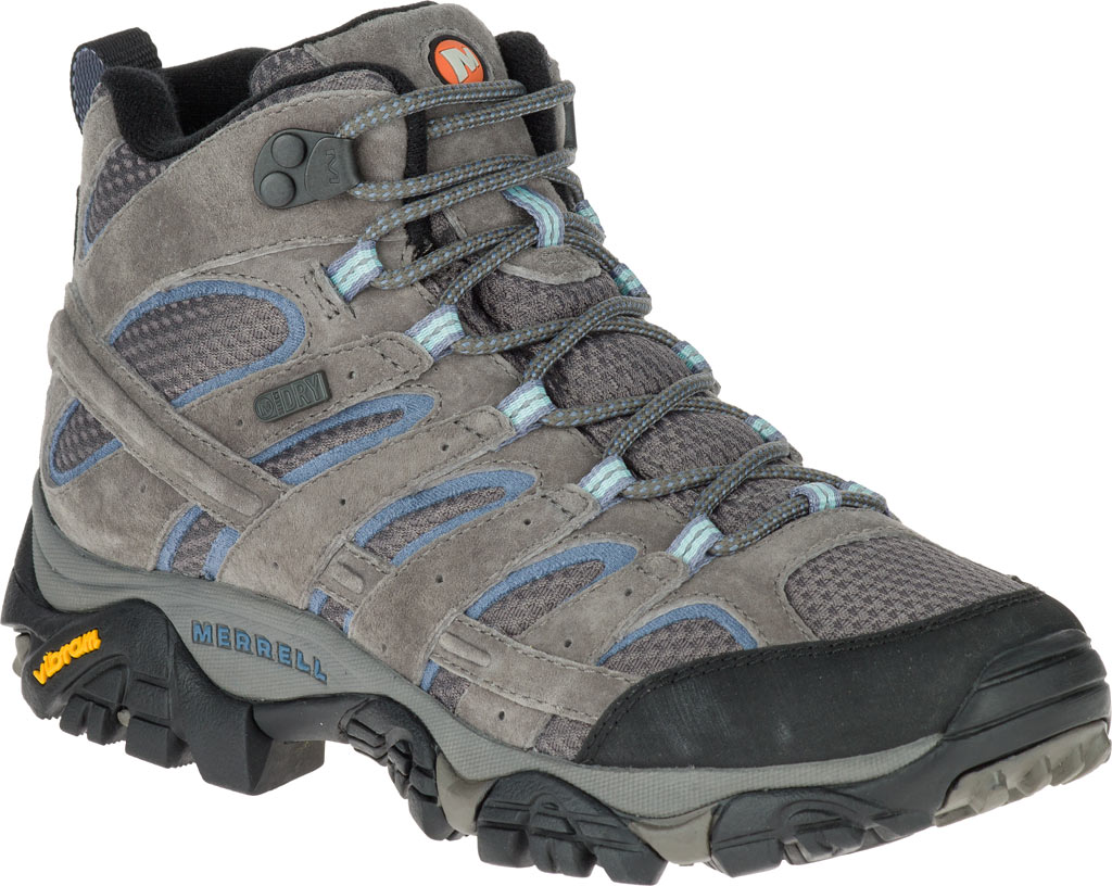 Women's Merrell Moab 2 Mid Waterproof Hiking Boot, Granite, large, image 1