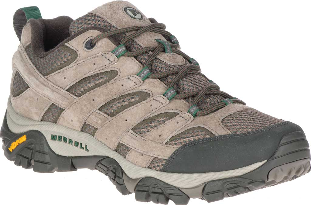 Men's Merrell Moab 2 Vent Hiking Shoe, Boulder Pigskin Leather/Mesh, large, image 1