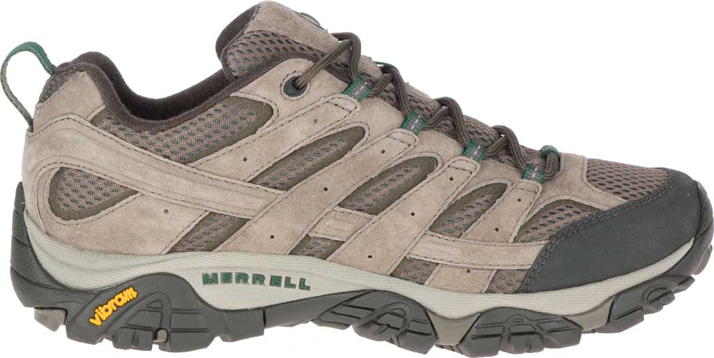Men's Merrell Moab 2 Vent Hiking Shoe, Boulder Pigskin Leather/Mesh, large, image 2