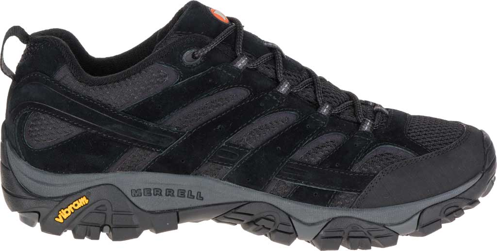 Men's Merrell Moab 2 Vent Hiking Shoe, Black Night Pigskin Leather/Mesh, large, image 2