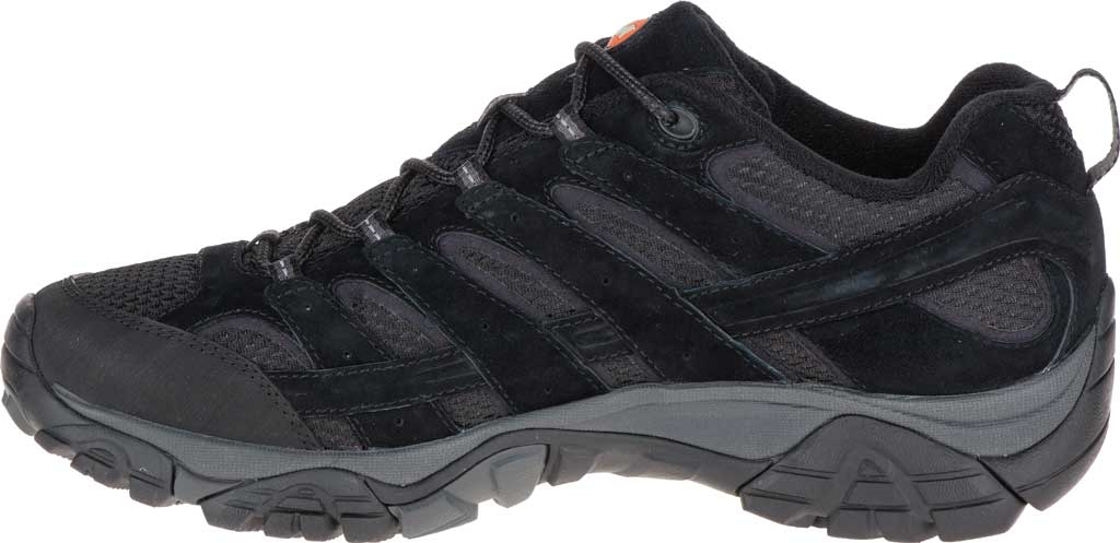 Men's Merrell Moab 2 Vent Hiking Shoe, Black Night Pigskin Leather/Mesh, large, image 3
