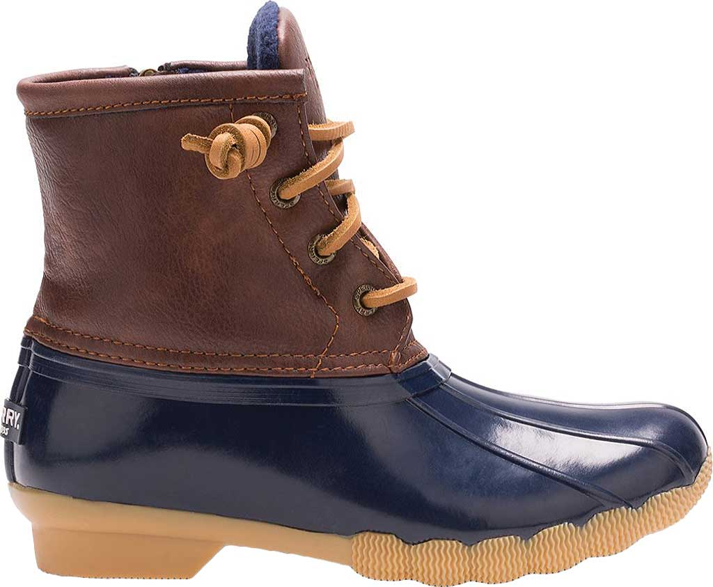 Infant Girls' Sperry Top-Sider Saltwater Duck Boot, Navy, large, image 2