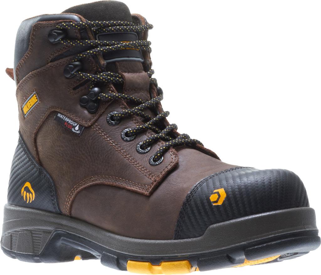 """Men's Wolverine Blade LX EPX Waterproof Met 6"""" CarbonMax Toe Boot, Dark Brown Full Grain Leather, large, image 1"""