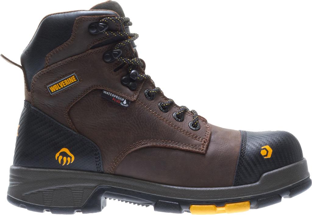 """Men's Wolverine Blade LX EPX Waterproof Met 6"""" CarbonMax Toe Boot, Dark Brown Full Grain Leather, large, image 2"""