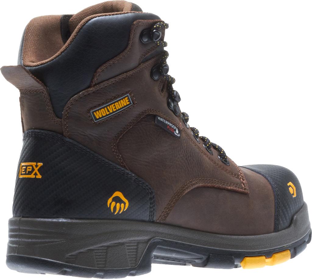 """Men's Wolverine Blade LX EPX Waterproof Met 6"""" CarbonMax Toe Boot, Dark Brown Full Grain Leather, large, image 5"""