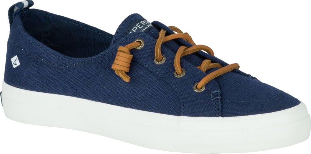 Women's Sperry Top-Sider Crest Vibe Sneaker, Navy Linen Canvas, large, image 1