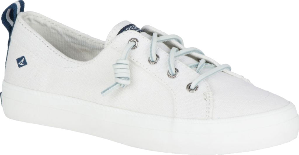 Women's Sperry Top-Sider Crest Vibe Sneaker, White Linen Canvas, large, image 1