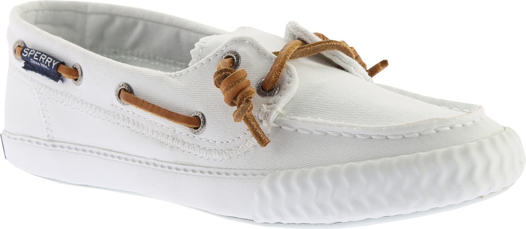 Women's Sperry Top-Sider Sayel Away Boat Shoe, White Washed Canvas, large, image 1