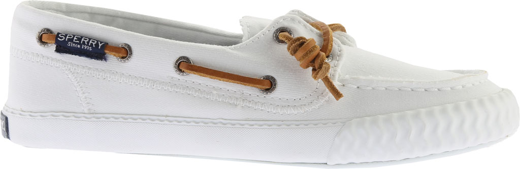 Women's Sperry Top-Sider Sayel Away Boat Shoe, White Washed Canvas, large, image 2