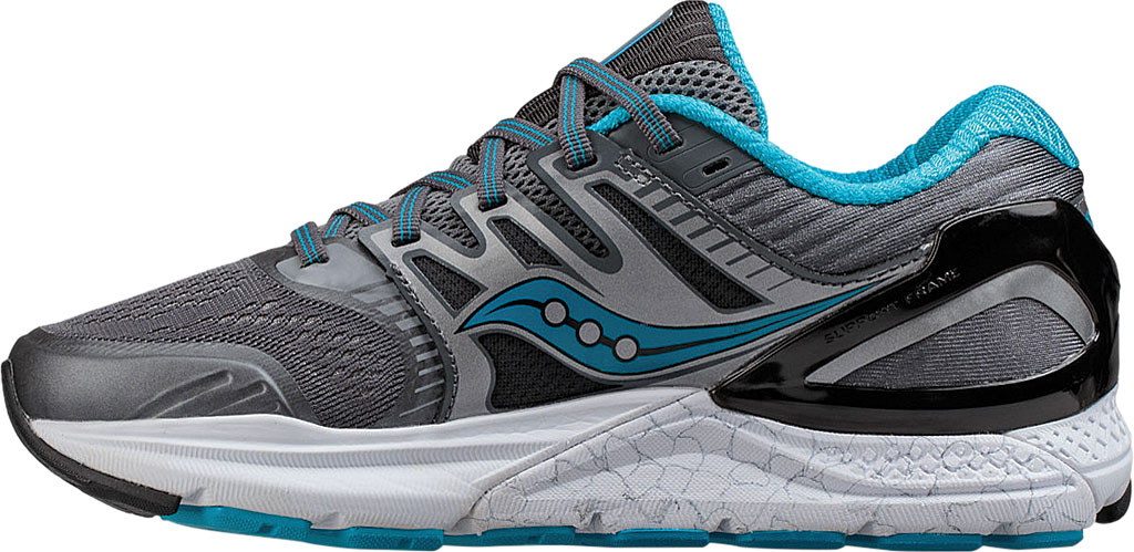 Women's Saucony Redeemer ISO 2 Running Shoe, Grey/Black/Blue, large, image 3