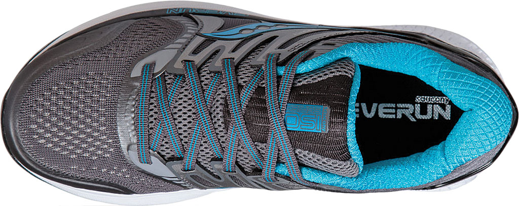 Women's Saucony Redeemer ISO 2 Running Shoe, Grey/Black/Blue, large, image 4