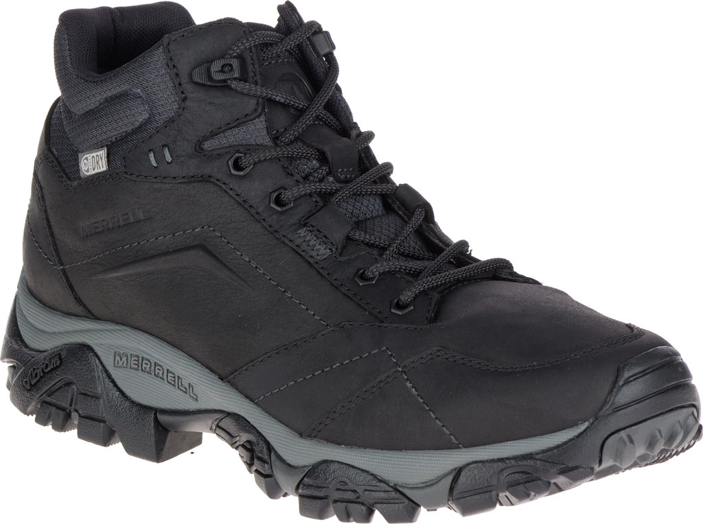 Men's Merrell Moab Adventure Mid Waterproof Hiking Boot, Black Nubuck Leather, large, image 1