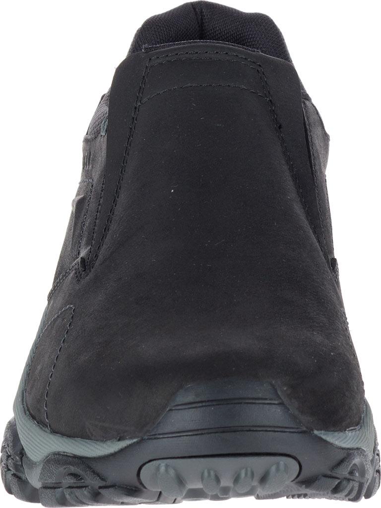 Men's Merrell Moab Adventure Moc Slip-On, Black Nubuck Leather, large, image 4