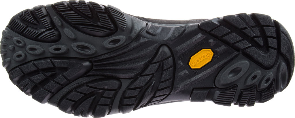 Men's Merrell Moab Adventure Moc Slip-On, Black Nubuck Leather, large, image 7