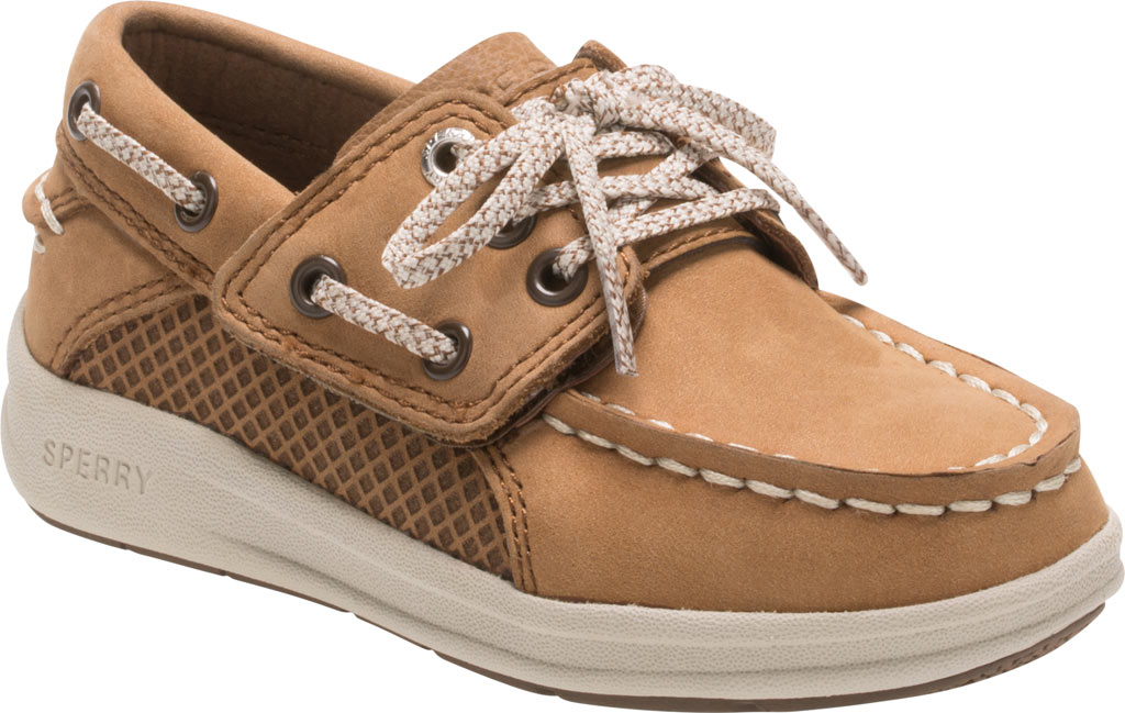 Infant Boys' Sperry Top-Sider Gamefish Jr Boat Shoe, Dark Tan Leather, large, image 1