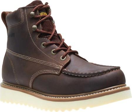 "Men's Wolverine Loader 6"" Wedge Soft-Toe Boot, Brown Leather, large, image 1"