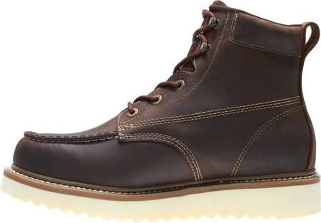 "Men's Wolverine Loader 6"" Wedge Soft-Toe Boot, Brown Leather, large, image 3"